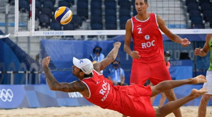 пляжный волейбол Россия - Чехия 31.07.2021 на Олимпийских играх 2020 в Токио